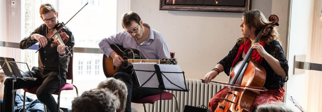 Live Music returns on Sat 25 February Balagan Cafe Band – '…this is music for the ears, heart and feet.'