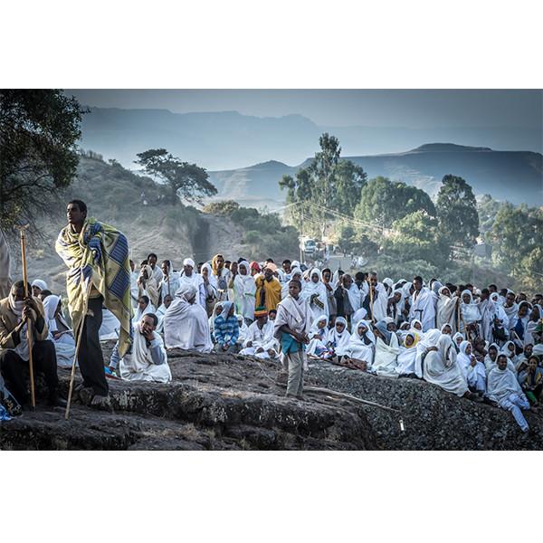 pilgrims at dawn
